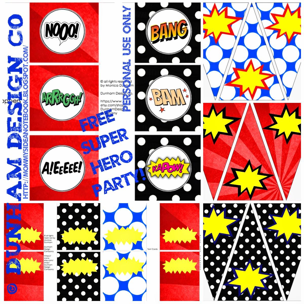 Dunham Design Company Superhero Party Printable Freebie