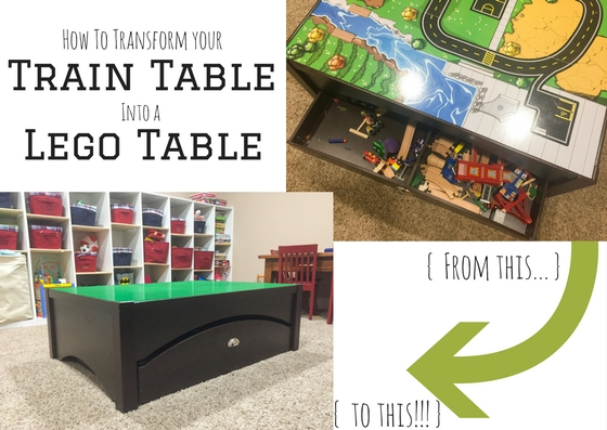 How to transform your train table into a lego table