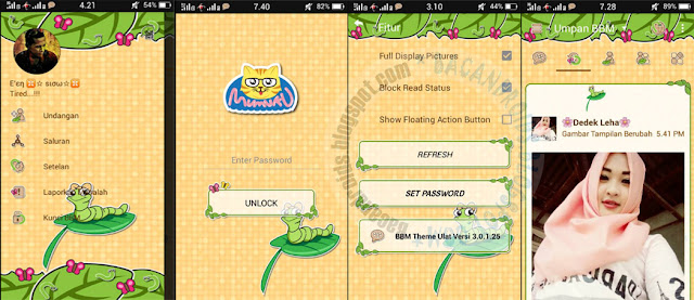 BBM Mod Ulat theme Versi 3.0.1.25 Apk terbaru For Android