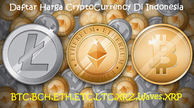 Daftar Harga Cryptocurrency di Indonesia