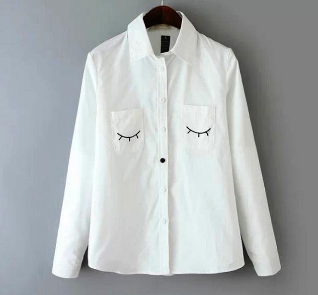 Model Baju Kemeja Putih Wanita Kasual Terbaru