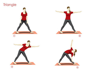 Triangle pose mampu meningkatkan tinggi badan