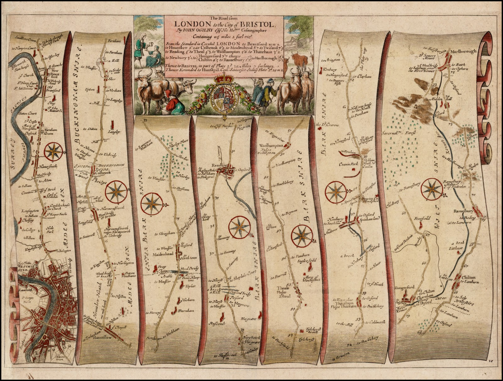 Antique Prints Blog Itinerary Maps - London map 1600