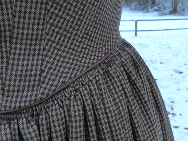 1840er Winterkleid