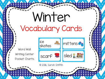 https://www.teacherspayteachers.com/Product/Winter-Vocabulary-Word-Cards-Polka-Dots--823014