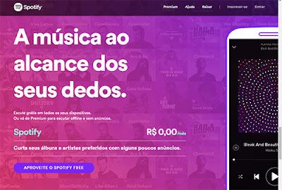 Spotify traz a amúsica ao alcance dos seus dedos