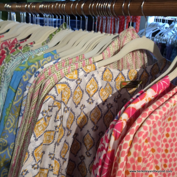 Indian-style tunics at rockflowerpaper shop in San Anselmo, California