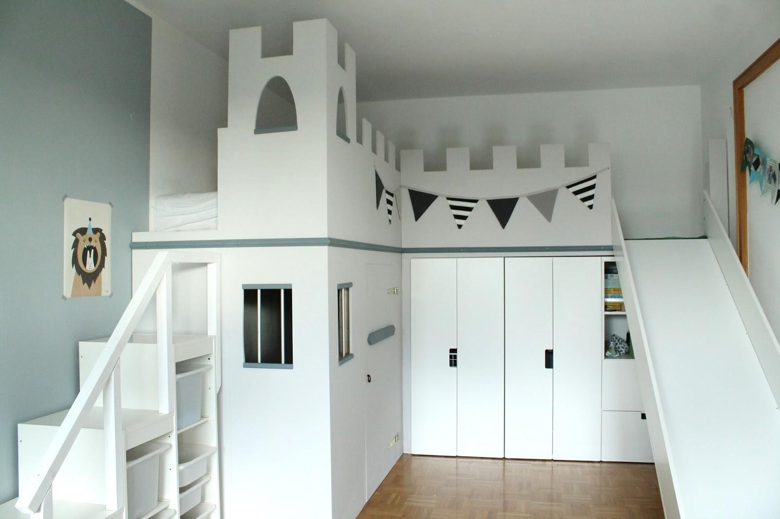 Etagenbett Ikea Kura : Hochbett ritterburg borg castle seng ikea kura girls room