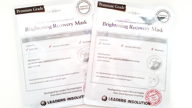 Leaders Insolution Coconut Gel Brightening Recovery Mask Review