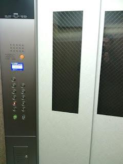 新エレベーターの内部写真