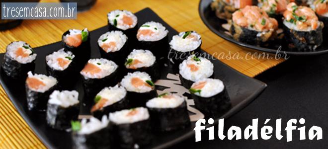 receita de sushi filadelfia