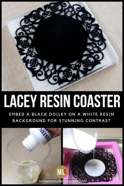 Lacey Resin Coaster inspiration sheet.