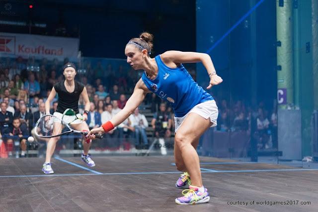Camille Serme derrotó 3-0 a Joey Chan de Hong Kong en el squash de los Juegos Mundiales 2017
