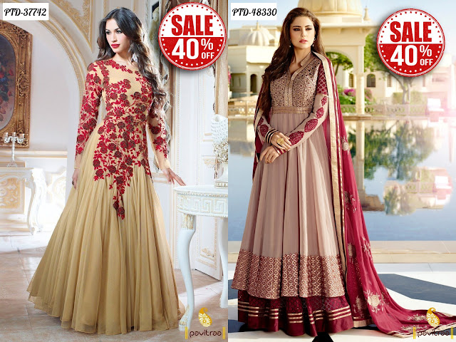 Women's day special gift long floor length designer dresses online collection