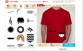 desain pakaian di laptop PC