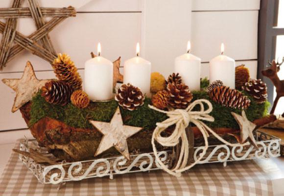 Marzua velas en navidad Mesas para navidad casa