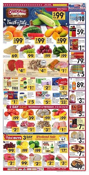 Cardenas Weekly Specials July 3 - July 9, 2019