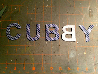 cotton letters cut out for personalization