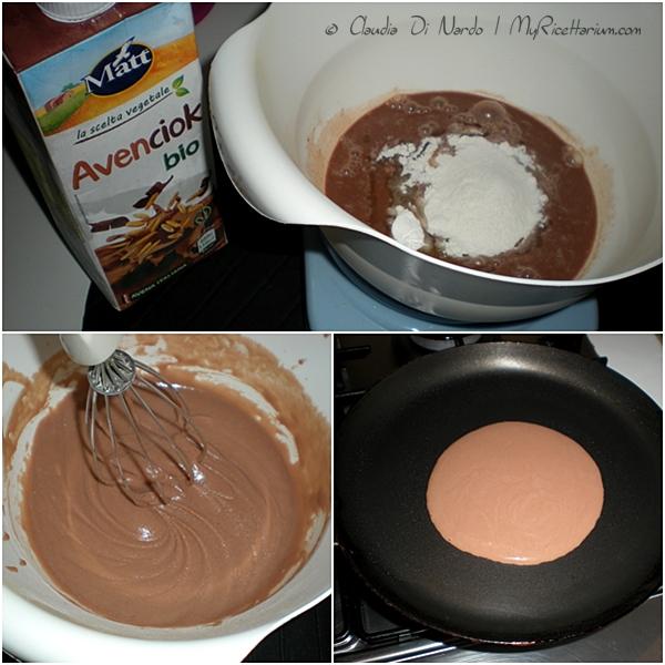 Mini pancakes con miele alla cannella e banana