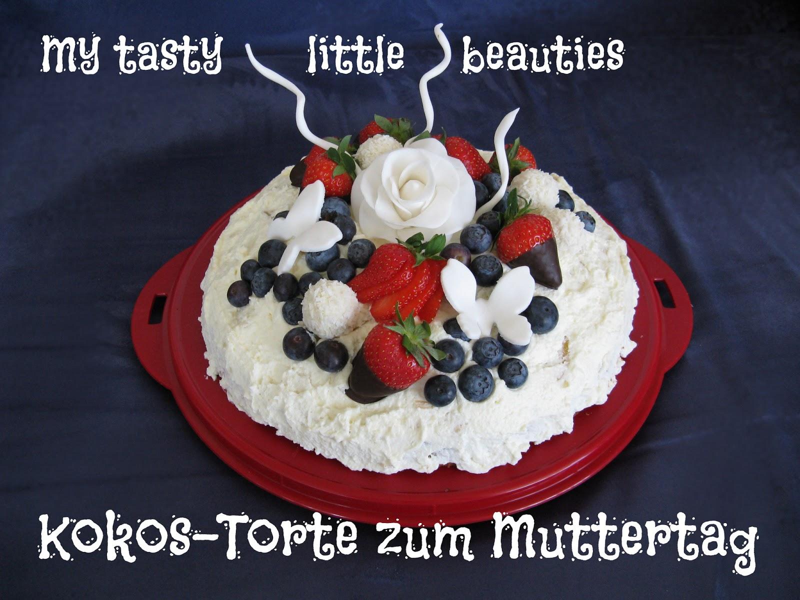 my tasty little beauties kuchen geht immer kokos torte zum muttertag. Black Bedroom Furniture Sets. Home Design Ideas