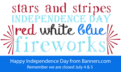 Happy Independence Day from Banners.com