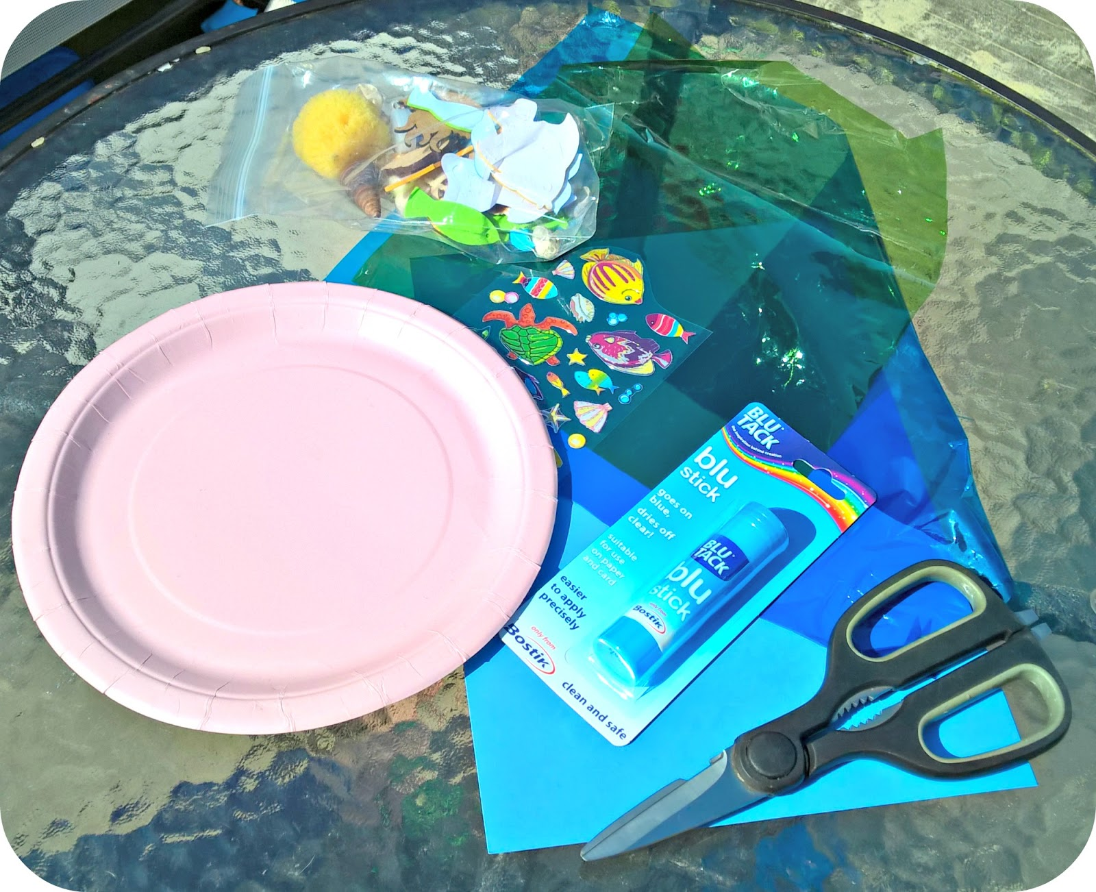 Paper Plate Rock Pool Toddler Craft