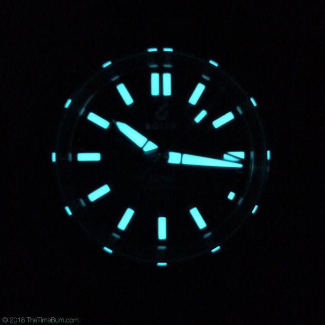 BOLDR Globetrotter Divers Watch Limited Edition lume