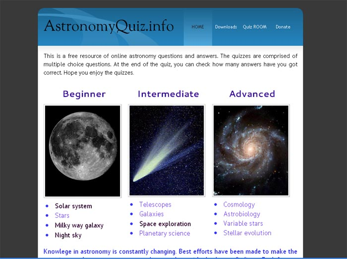 astronomy question bank Test bank usually have different types of questions such as: true/false, multiple choice questions, matching, and fill-in-the-blanks with their corresponding correct answer some test banks also.