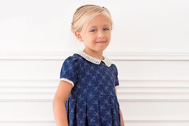 vestidos para niñas moda invierno 2017