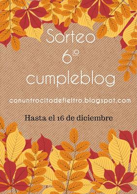 Sorteo 6º cumpleblog