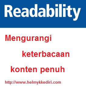 Mengurangi keterbacaan / readability