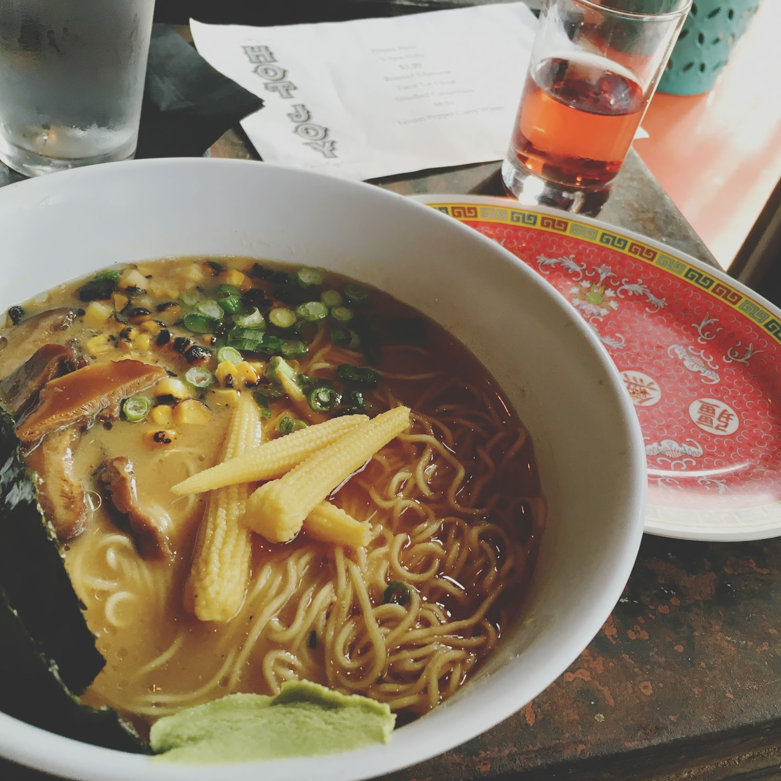 double miso ramen at Hot Joy - a restaurant in San Antonio, Texas