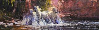 caballos-agua-paisajes