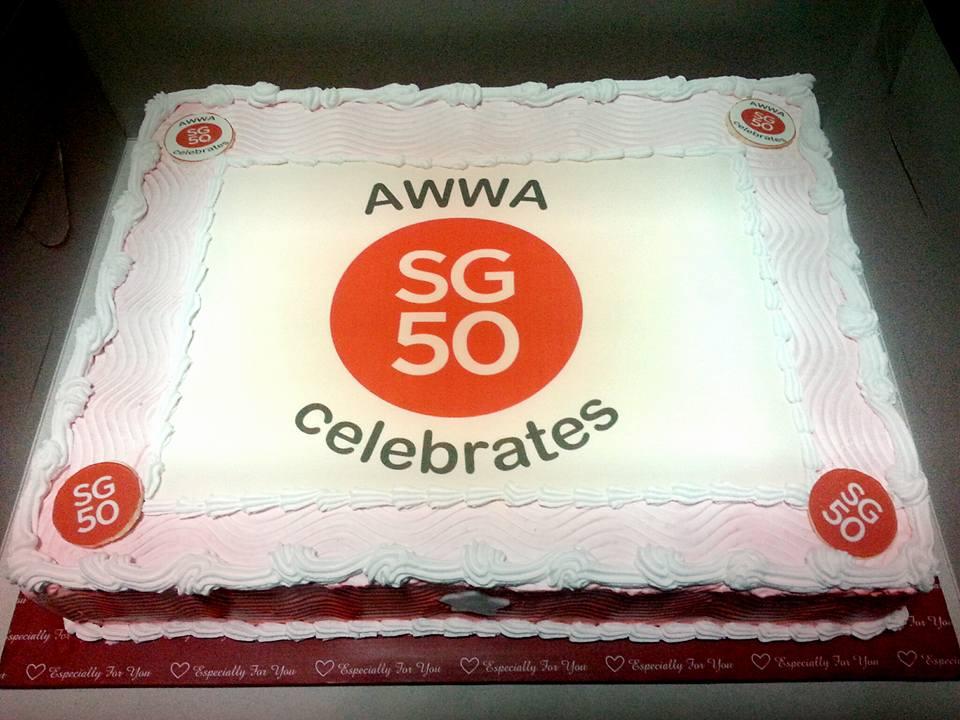 Izahs Kitchen Corporate Cake For Awwa Corporate Anniversary Cake
