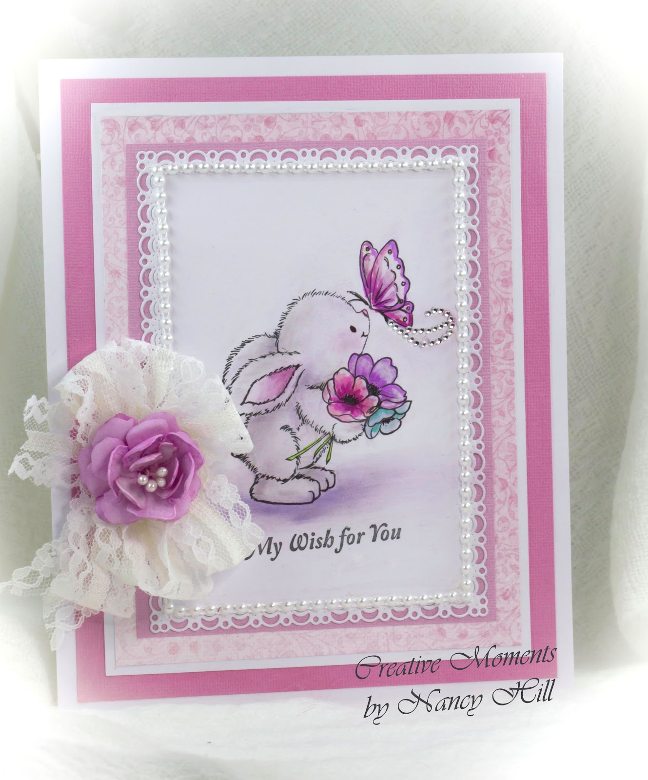 Welcome Back And Nancy Hill Design Team For The Rubber Buggy Excited To Share A Birthday Card Made With Adorable Wild Rose Studio Bunny Butterfly