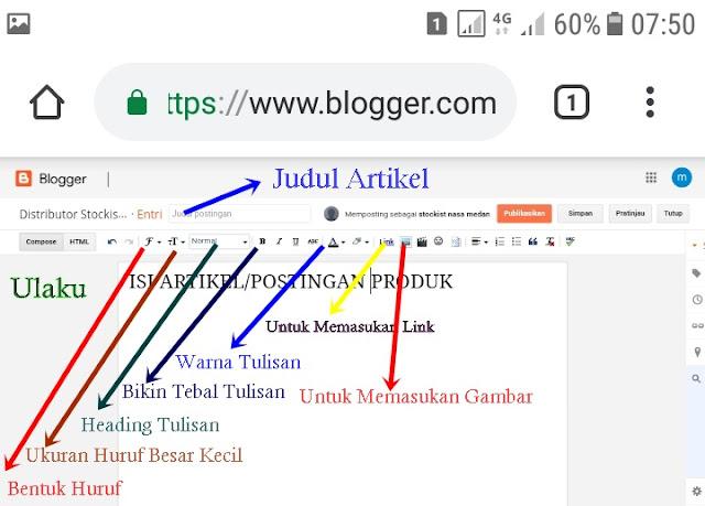 Cara Membuat Artikel Di Blogger, Cara Membuat blog, Cara Menulis Blog Lewat Hp, Cara Menambah Artikel Di Blog