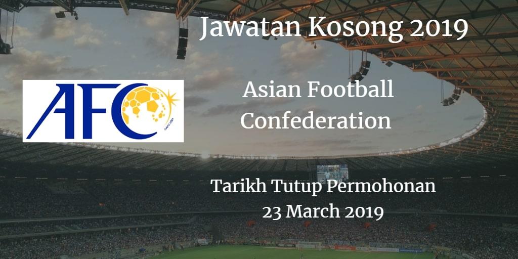 Jawatan Kosong AFC 28 Mac 2019