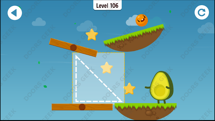 Where's My Avocado? Level 106 Solution, Cheats, Walkthrough, 3 Stars for Android, iPhone, iPad and iPod