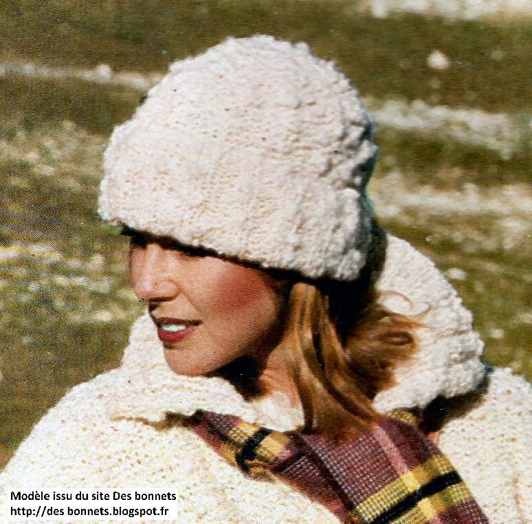 tricoter un bonnet en laine femme