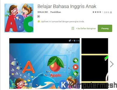 aplikasi belajar bahasa inggris untuk anak