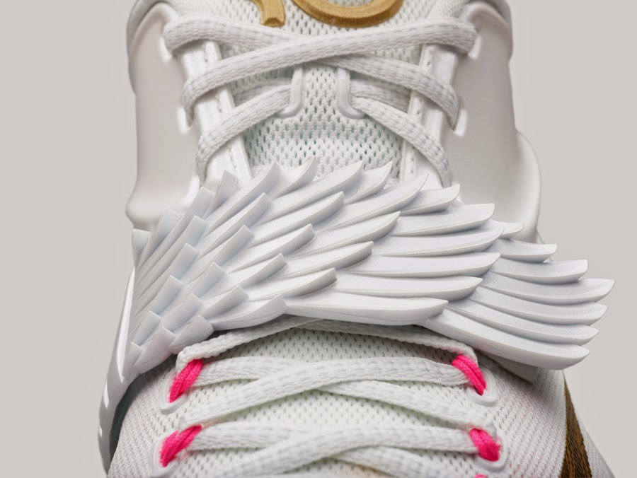 brand new 9de5b b5d99 Nike designer Leo Chang s inspiration for the new KD7 Aunt Pearl shoe came  from Durant s angel tattoo. Chang brought Harris s artistry to the shoe  with a ...