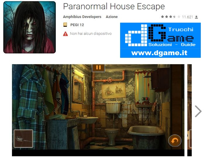 Soluzioni Paranormal House Escape di tutti i livelli | Walkthrough guide