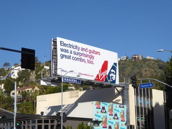 Alaska Virgin America Electricity guitars billboard