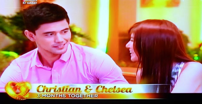 Couple Christian and Chelsea on Realiserye 'I Do' of ABS-CBN