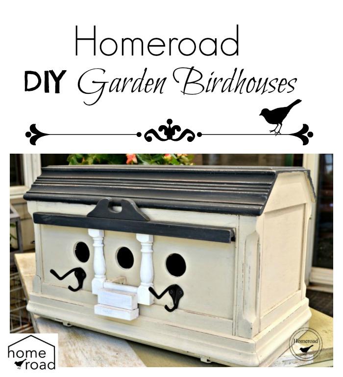 DIY Garden Birdhouses www.homeroad.net