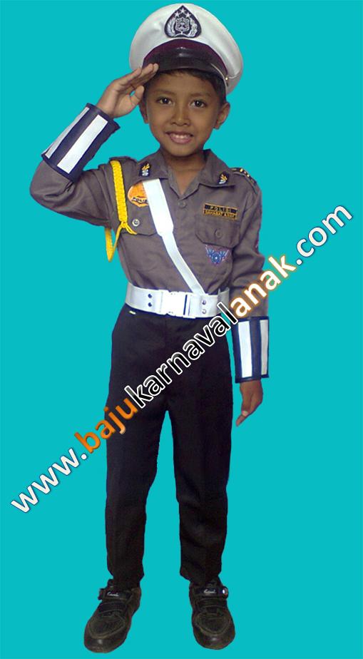 baju karnaval anak profesi polisi polantas anak