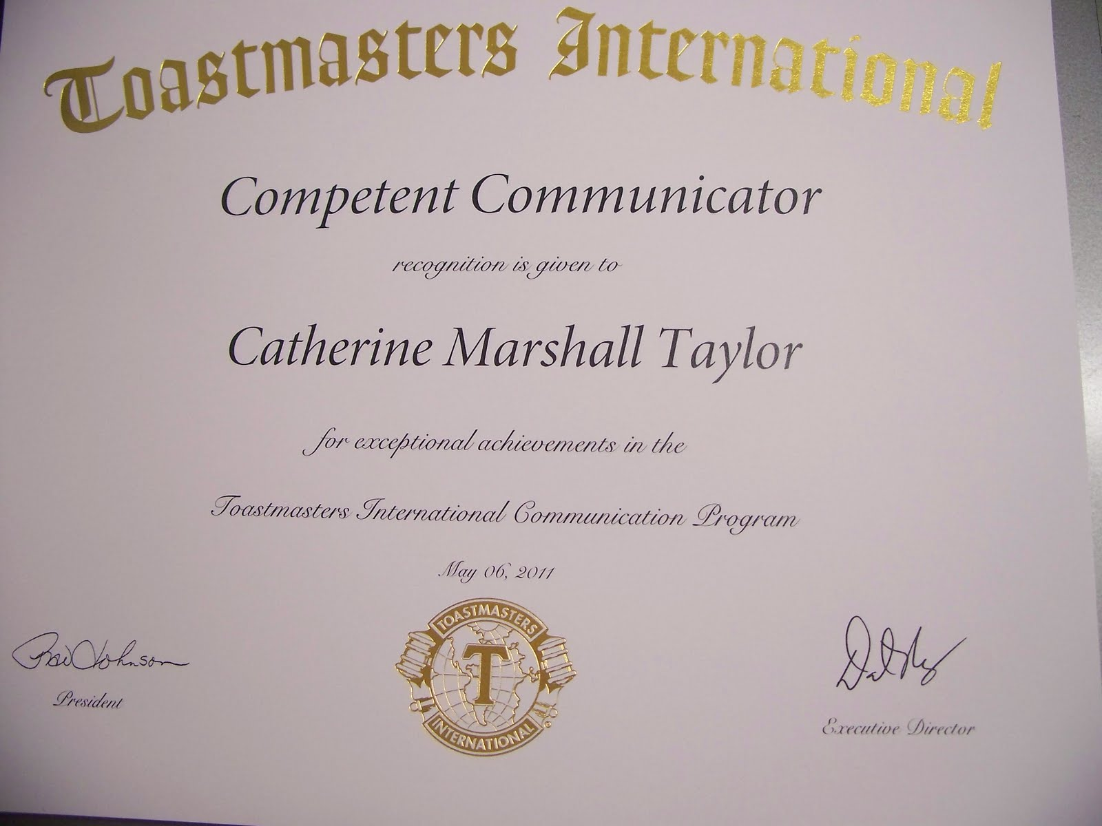 What A Wonderful Life Toastmasters Competent Communicator