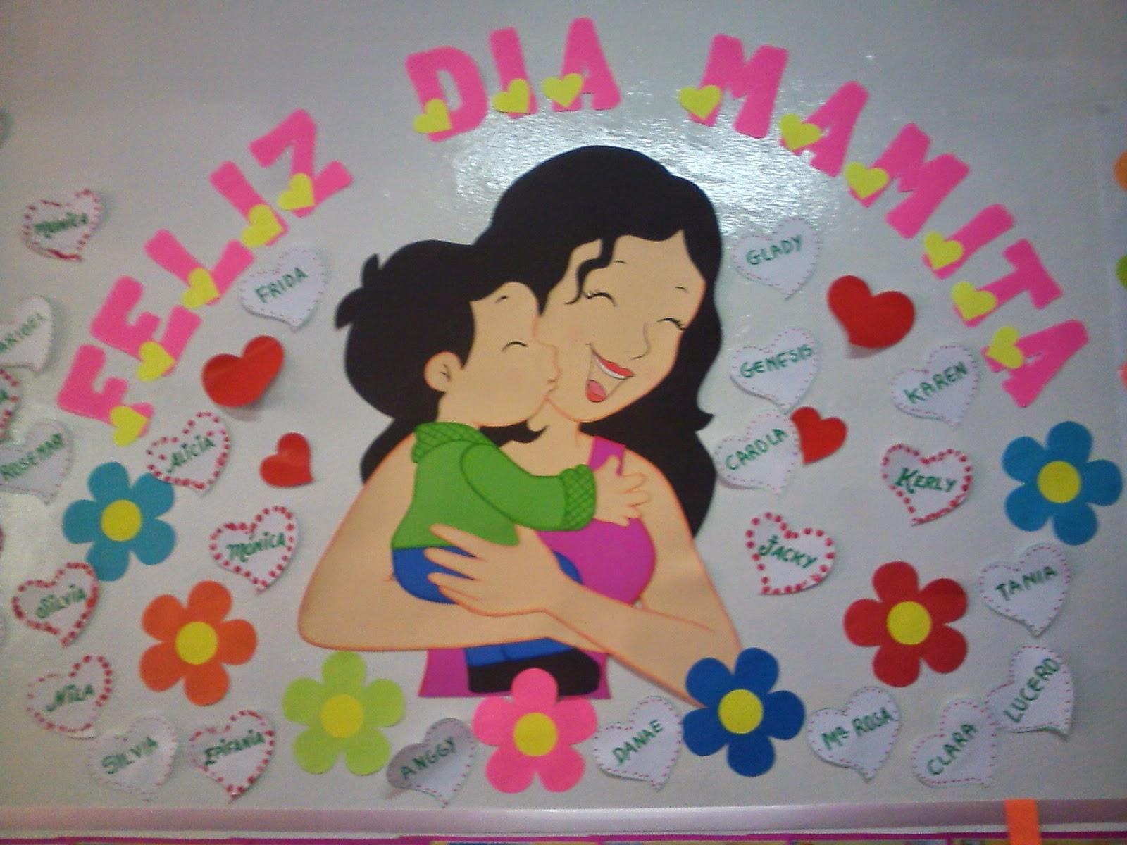 Linda ambientaci n para el aula en el d a de la madre for Decoracion 10 de mayo