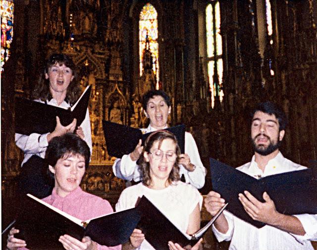 Singing at Notre Dames de Lourdes, Ottawa - early 90's