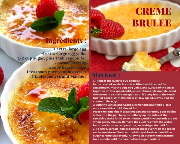 HOMEMADE CREME BRULEE RECIPE